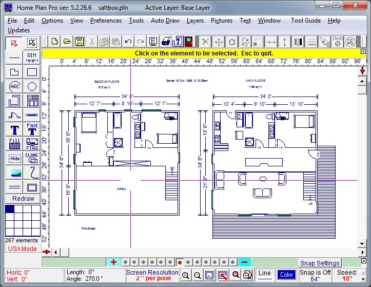 Home plan software cad software remodeling software for Home drawing software free download